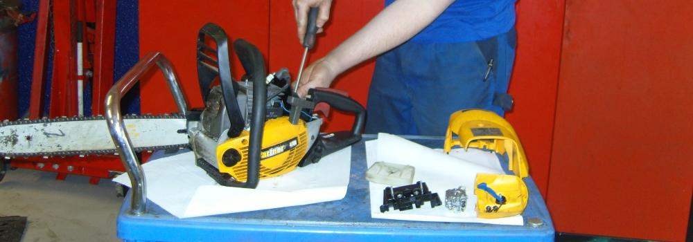 reparasjon av småmaskiner